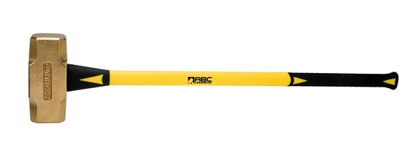 "10lb Brass Sledge Hammer ABC10BF 33/"" Fiberglass Handle ABC Hammers USA Made"